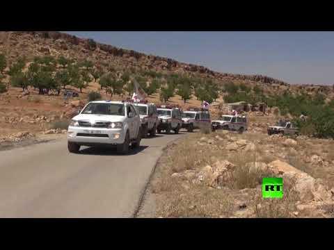 المغرب اليوم  - شاهد لحظة خروج مسلحي سرايا أهل الشام من جرود عرسال