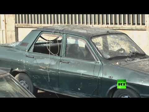 المغرب اليوم  - شاهد مسلحون يقصفون حي الأكرمية في حلب
