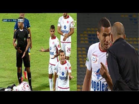 المغرب اليوم  - بالفيديو  مشادة بين وليد الركراكي وعبد اللطيف نوصير