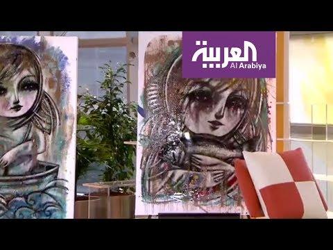 المغرب اليوم  - شاهد لوحات زاهية يعتمدها التشكيلي مهند عرابي في معرضه الأخير