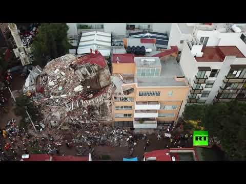 المغرب اليوم  - شاهد توثيق مدى الدمار الناتج عن الزلزال الأخير في مكسيكو