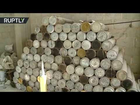 المغرب اليوم - شاهد الجيش السوري يعثر على كدس كبير للعتاد في الميادين