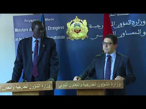 المغرب اليوم - مباحثات وزير الشؤون الخارجية والتعاون الدولي لجنوب السودان مع نظيرة المغربي