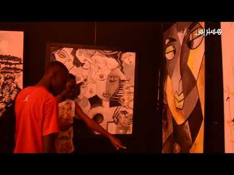 نادية الشلاوي مغربية تبدع لوحات تشكيلية في أبيدجان