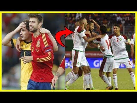 شاهد إسبانيا متخوفة من مواجهة المنتخب المغربي