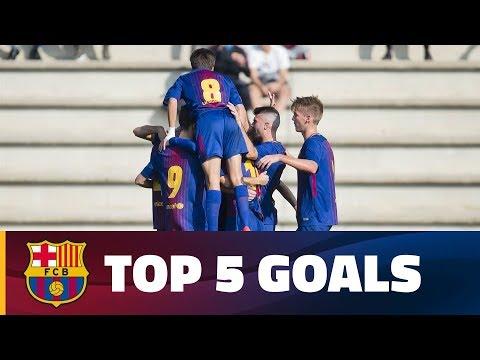 شاهد أفضل 5 أهداف لشباب أكاديمية برشلونة الماسية