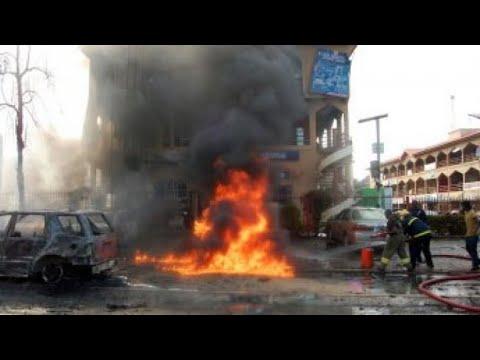 شاهد 50 قتيلا في هجوم انتحاري استهدف مسجدًا في موبي