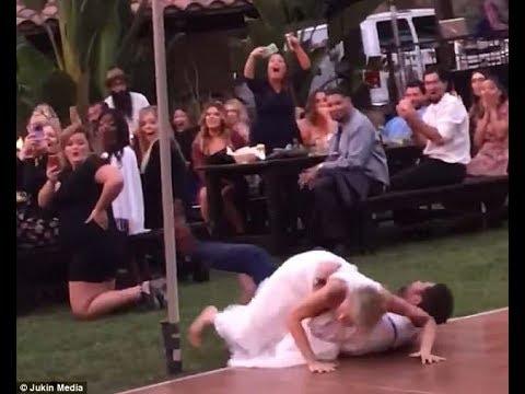 شاهد صديقة العروس تتعرض لموقف محرج أثناء رقصها مع شاب