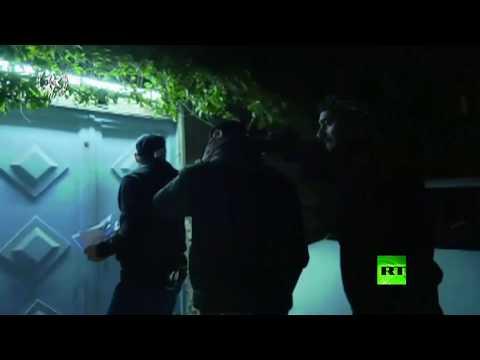 شاهد  الجيش الإسرائيلي ينفذ حملة اعتقالات في الضفة الغربية