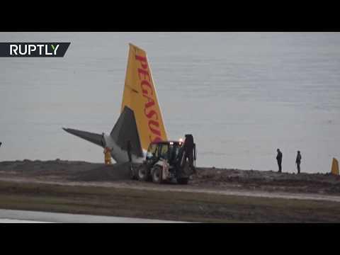 شاهد نجاة 170 راكبًا بأعجوبة من كارثة جوية في تركيا