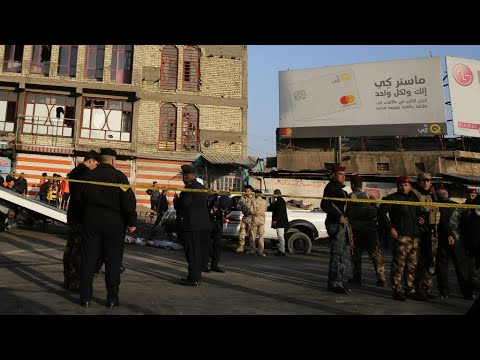 شاهد سقوط قتلى في هجومين انتحاريين وسط بغداد