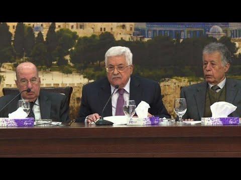 شاهد عباس يرفض خطة ترامب للسلام