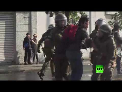 بالفيديو اشتباكات في تشيلي بعد وصول بابا الفاتيكان إلى البلاد