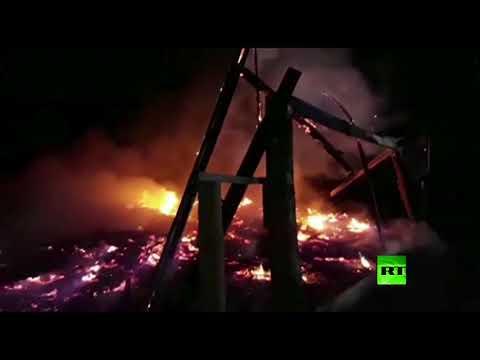 مجهولون يحرقون كنائس في تشيلي