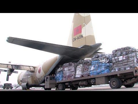 شاهد إرسال مساعدات إنسانية مغربية إلى مدغشقر