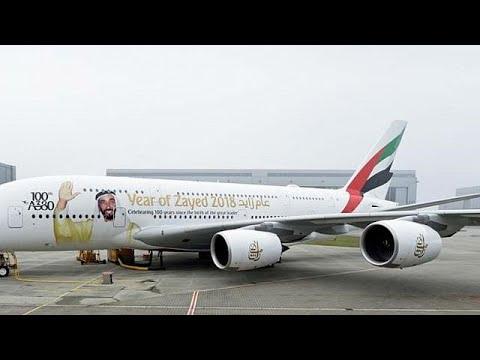 شاهد طلبية إماراتية تنفذ واحدة من أكبر الطائرات في العالم