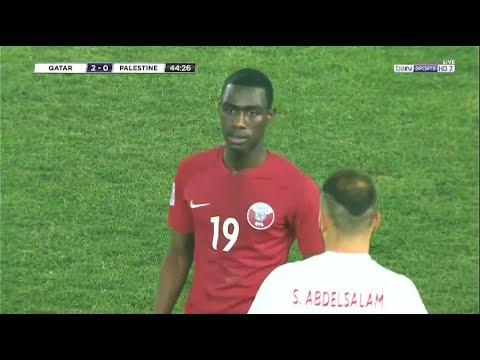 شاهد ملخص مباراة قطر وفلسطين 32