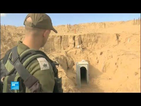 شاهد إسرائيل تعرض للمرة الأولى الجدار الذي تبنيه بين أراضيها وغزة