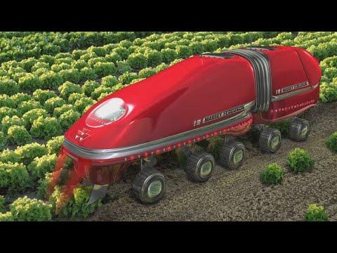 شاهد أحدث الآلات و المعدات المستقبلية للزراعة