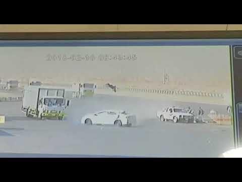 شاهد لحظة تعرض مواطن لحادث دهس مروّع في الرياض