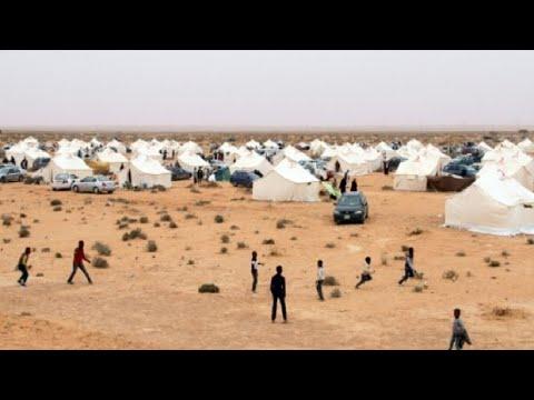 شاهد النازحون من تاورغاء الليبية تحت رحمة الصحراء والعقارب والثعابين