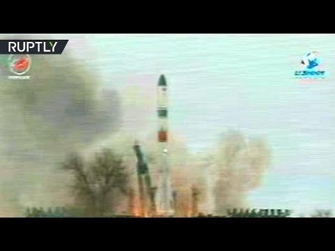 شاهد إطلاق بروغريس الفضائية الروسية بنجاح
