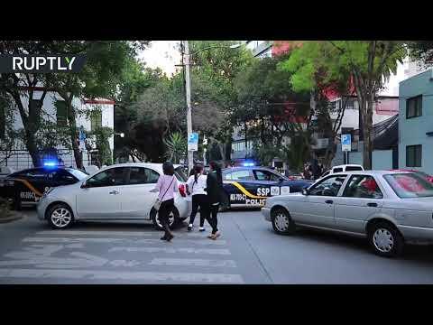 شاهد زلزال بقوة 75 درجات يضرب المكسيك
