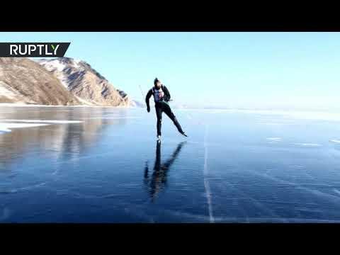 شاهد مسابقات المغامرين على جليد بحيرة بايكال
