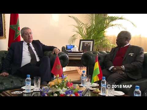 بالفيديو بنعبد القادر يجري محادثات مع وفد من غانا