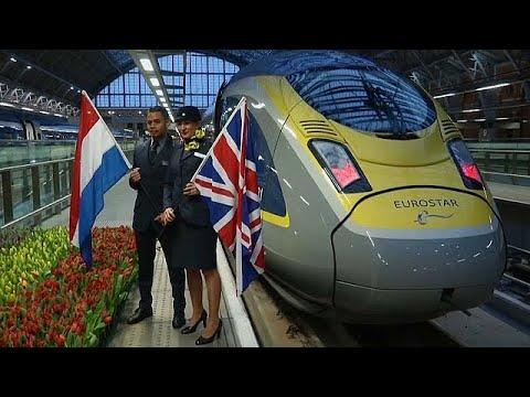 يوروستار تدشن أول خدمة قطار