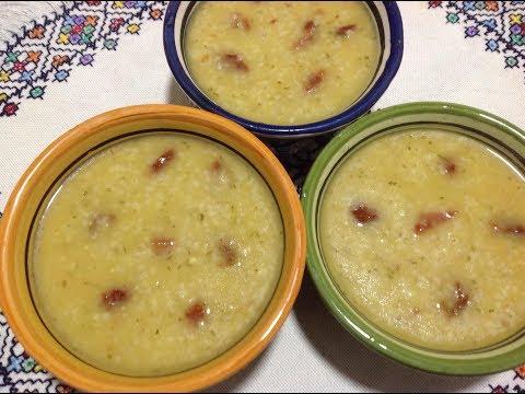 شاهد طريقة إعداد حساء سميدة الشعير المغربية