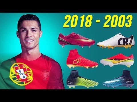 شاهد الأحذية التي لعب بها النجم كريستيانو رونالدو من عام 2003 إلى 2018