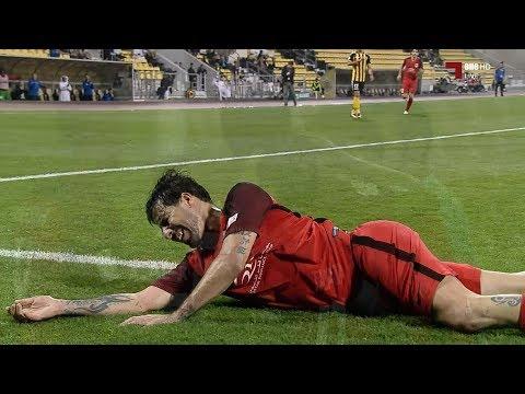 شاهد تفوق لافت لمتولي على مدافعي قطر وتسجيل الهدف الثالث للريان