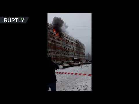 شاهد انفجار يهز أحد المباني السكنية في سان بطرسبورغ