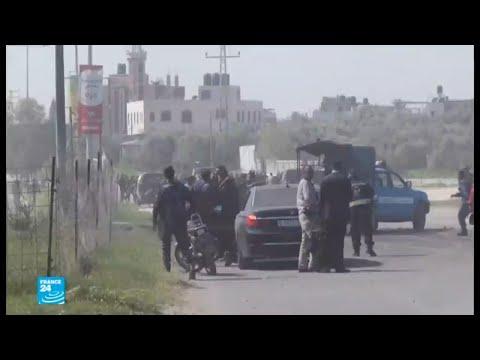 شاهد رئيس الوزراء الفلسطيني يقطع زيارته لغزة بعد انفجار استهدف موكبه