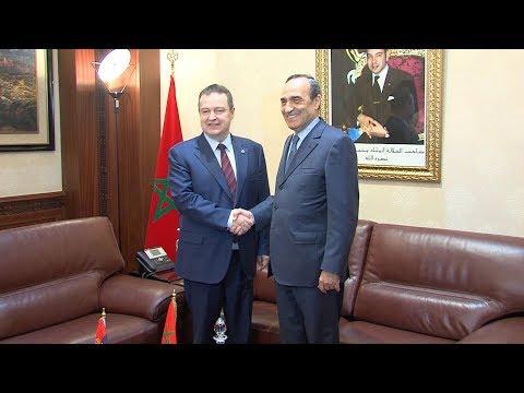 شاهد الحبيب المالكي يتباحث مع وزير خارجية صربيا