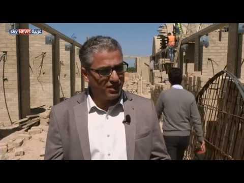 شاهد غزة أول سوق شعبي مبني من الطين