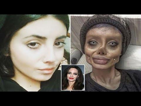 أنجلينا جولي الإيرانية تكشف حقيقة وجهها المخيف