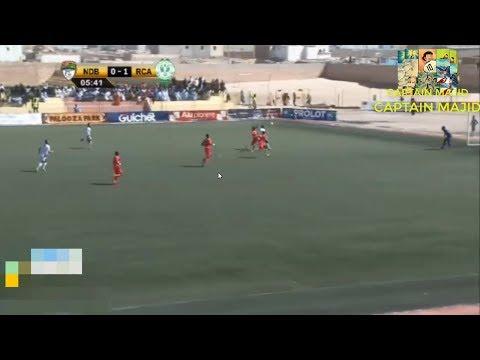 شاهد ياجور يسجل هدف التقدّم في مباراة الرجاء البيضاوي و إف سي نواديبو