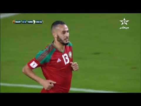 شاهد  أهداف مباراة المغرب وصربيا التي انتهت 21