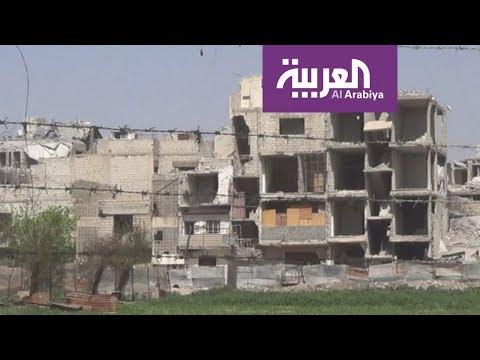 شاهد غارات فوسفورية لقوات الأسد على مدينة دوما