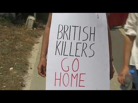 شاهد مظاهرات في قبرص تندد بالغرات الجوية في سورية