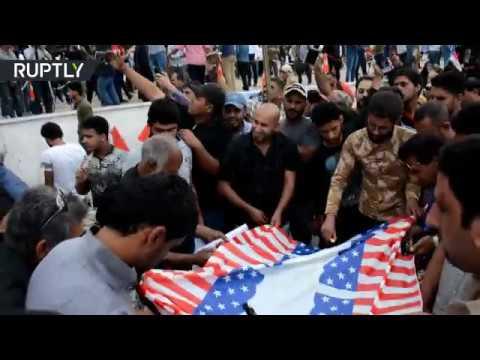 شاهد مظاهرة عراقية لدعم الشعب السوري