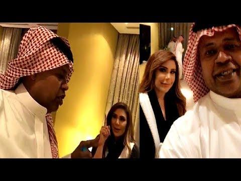 شاهد سعيد العويران يغازل مذيعة العربية سارة دندراوي