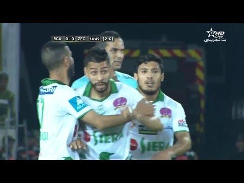 شاهد  أهداف الشوط الأول من مباراة الرجاء البيضاوي و زاناكو