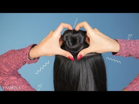 شاهد تسريحات شعر مميزة للمدرسة على شكل قلب
