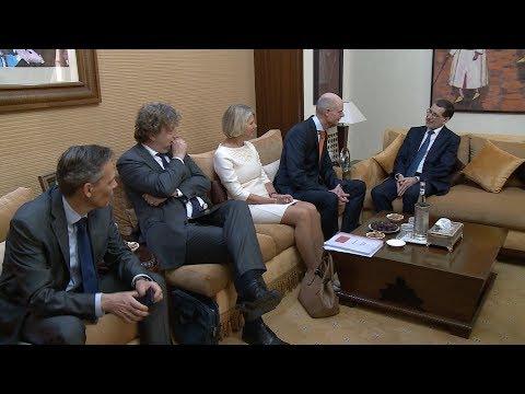 شاهد  مباحثات رئيس الحكومة المغربية مع وزير الخارجية الهولندي