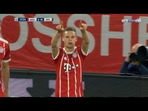 شاهد هدف بايرن ميونخ الأول على ريال مدريد بعد 28 دقيقة من اللقاء