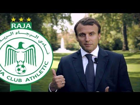 شاهد الرئيس الفرنسي يتحدث عن دور هنري ميشيل في الرجاء البيضاوي