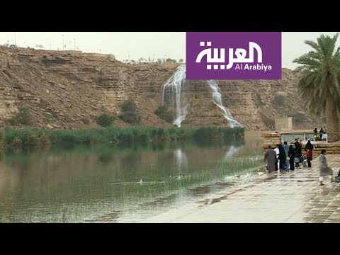 شاهد أمطار رعدية متوسطة تغسل الرياض منذ فجر الأربعاء